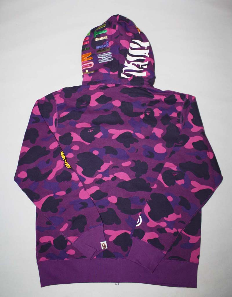 94e7f31d994f Color Camo Full Zip Bape Tiger Hoodie