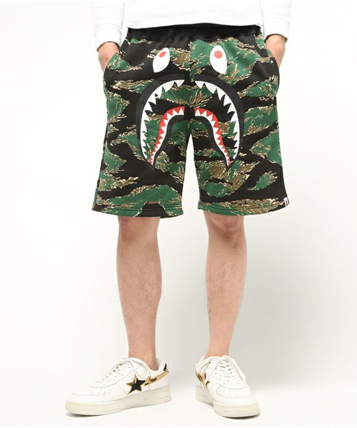 e2e2f6b36ffb Bape Green Tiger Camo Shorts. Previous  Next