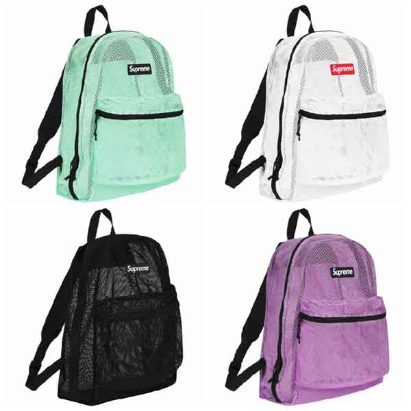 2a66bcd801 Supreme 2016ss Mesh Backpack Bag. Previous; Next