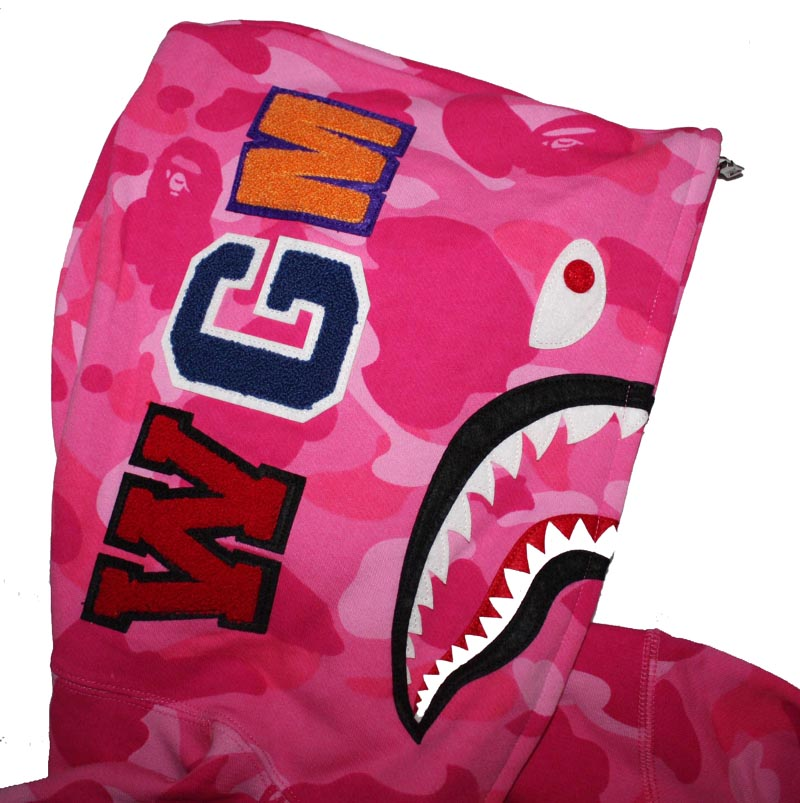 3c37a64c6c24 Pink Camo Full Zip WGM Bape Shark Hoodie. Out of Stock. Previous  Next