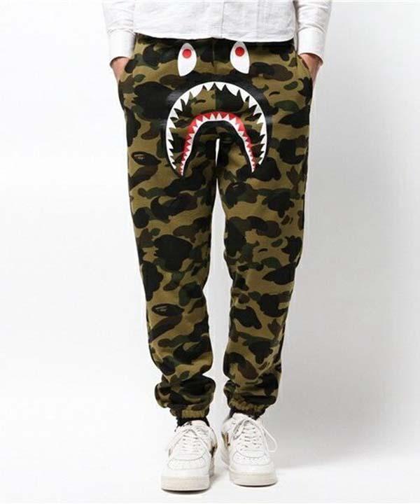 Bape Green Camo Shark Sweatpants. Previous  Next a11c655200f3