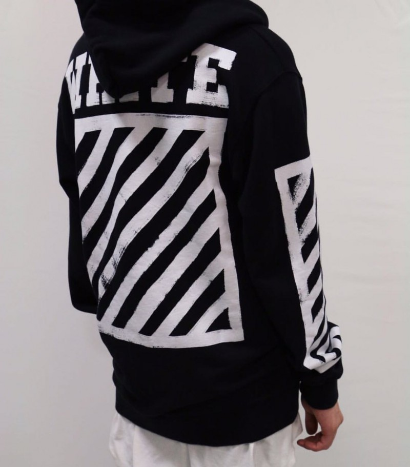 Off-White Black Graffiti Hoodie  Dopestudent