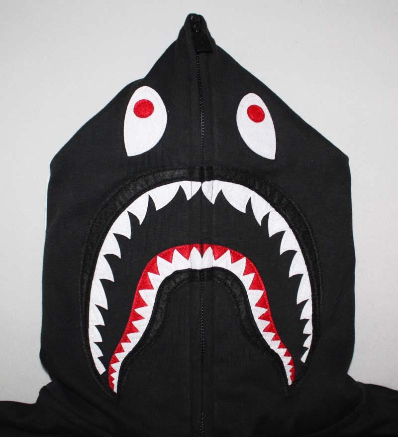 szczegółowy wygląd Całkiem nowy oficjalne zdjęcia Bape Puma Collection Shark Hoodie | Dopestudent