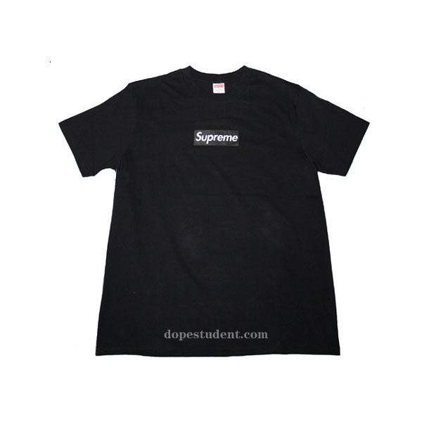 1b3d108c3c19 Sup Black Box Logo Graphic T-shirt | Dopestudent
