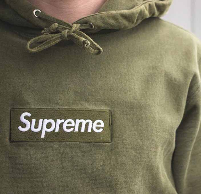 ae9646c2 Olive Green Box Logo Supreme Hoodie. Previous; Next