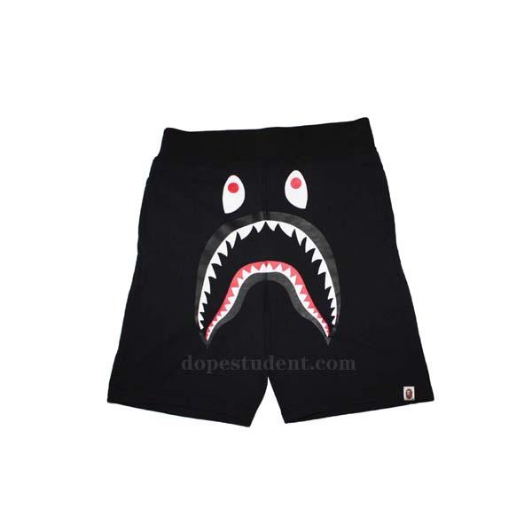 36752ea00c Bape Solid Black Shark Shorts | Dopestudent