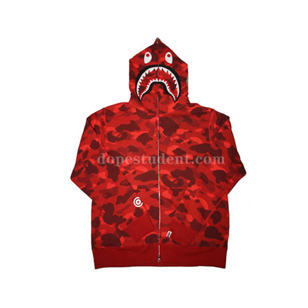 Red Camo Full Zip Bape Shark Hoodie. Previous  Next 220ee75c7cc7