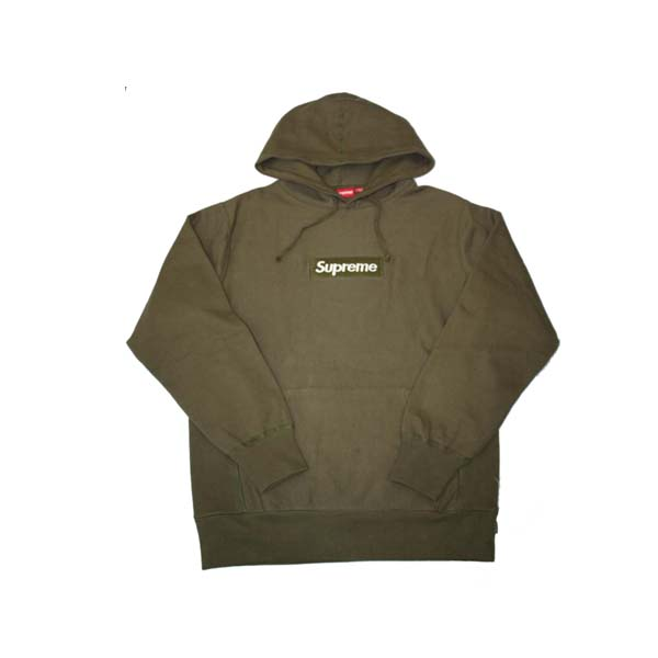olive green box logo supreme hoodie dopestudent. Black Bedroom Furniture Sets. Home Design Ideas