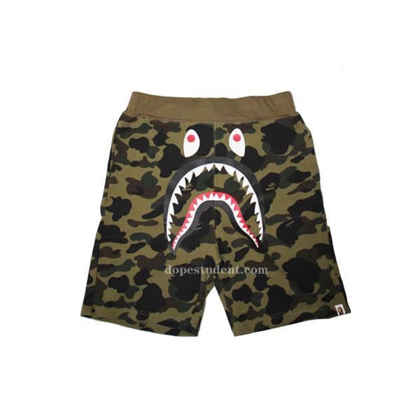 383b03efeb Bape Green Camo Shark Shorts | Dopestudent