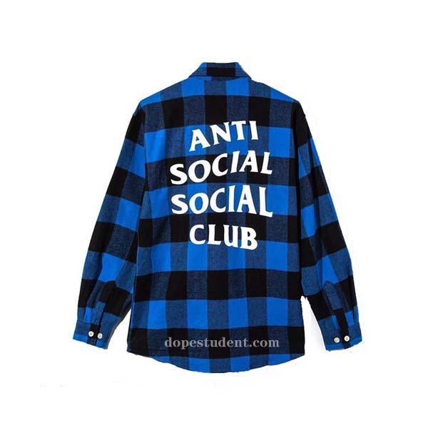 13253448a346 Anti Social Social Club ASSC Flannel Shirt