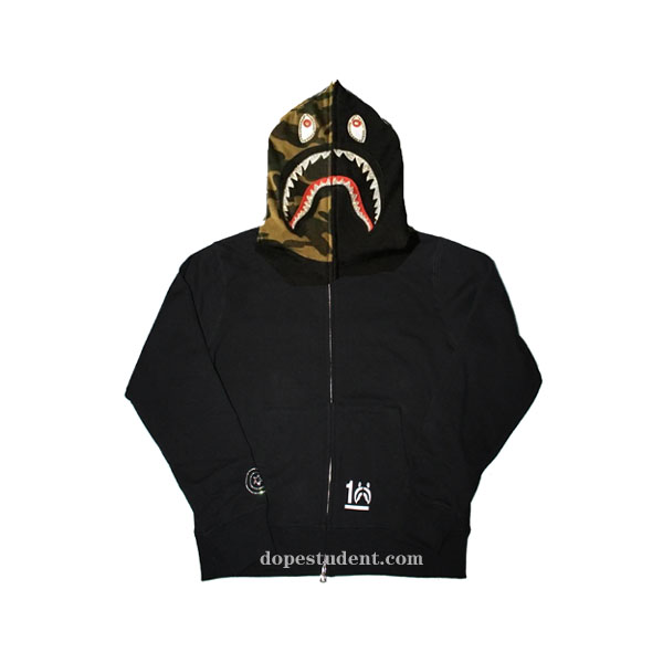 ad1995fa027 Golden Crystal Full Zip Bape Shark Hoodie. Previous  Next