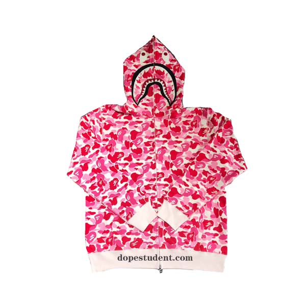 68c5c98d Pink Full Zip ABC Camo Bape Shark Hoodie. Previous; Next
