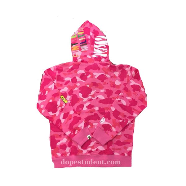 62ce8d4eb2f9 Pink Full Zip WGM Bape Tiger Hoodie. Previous  Next
