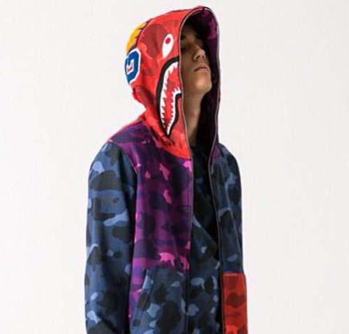 Bape purple camo hoodie