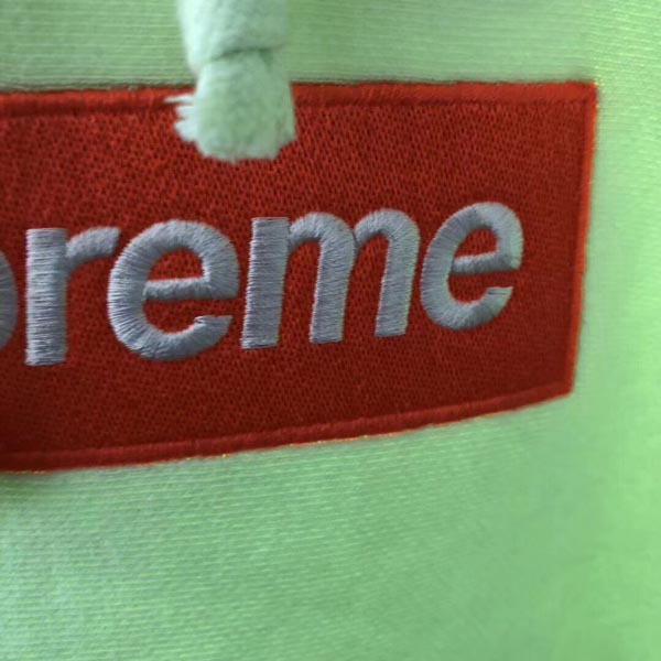 2017fw Yellow Box Logo Supreme Hoodie Dopestudent