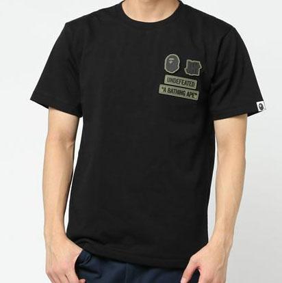 Bape undefeated collaboration t shirt dopestudent for Bape t shirt sizing