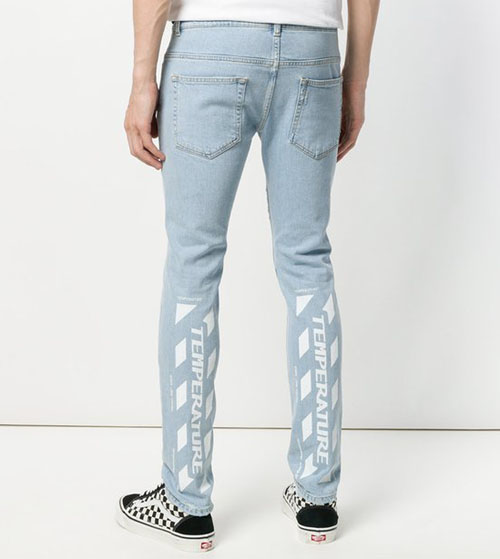 26a287d7f012 Off-White Temperature Blue Jeans. Previous  Next