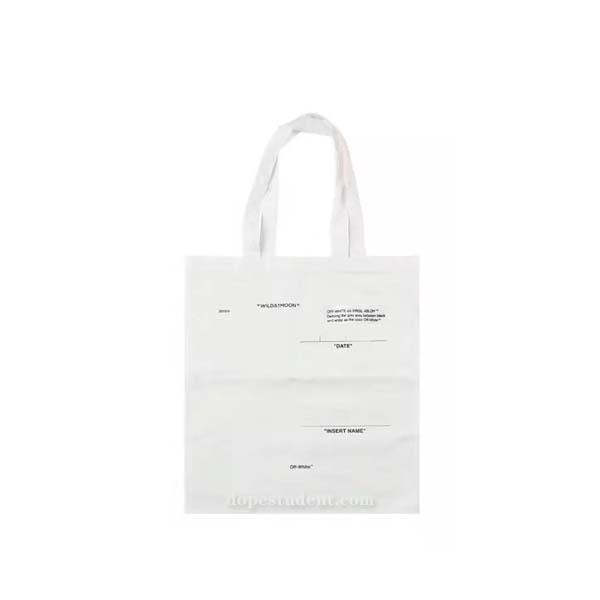 Off White Paris Canvas Tote Bag Previous Next