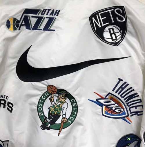 556172b334cc Supreme NBA Nike Varsity Jacket. Previous  Next