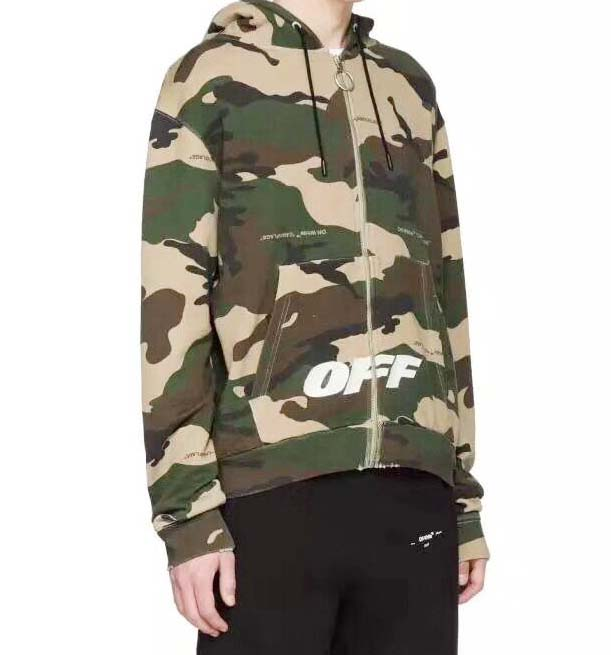 Off White Full Camo Zip Hoodie Dopestudent