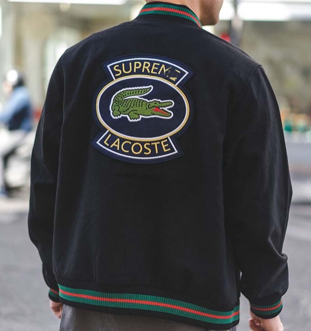 Supreme Lacoste Wool Varsity Jacket Dopestudent