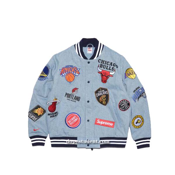 9af50b50b Supreme NBA Nike Varsity Jacket. Previous  Next