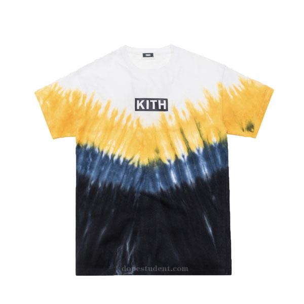 Kith Box Logo Tie Dye T Shirt Dopestudent